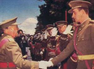 Franco y su ahijado heredero, Juan Carlos de Borbón
